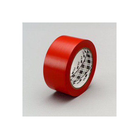 Cinta señalizacion adhesiva 764I 50mm x 33m roja 3M