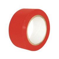 Cinta señalizacion adhesiva roja 50mmx33m SOLBI
