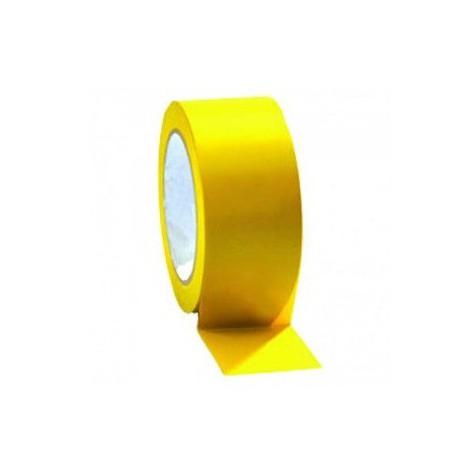 Cinta señalizacion adhesiva amarilla 50mmx33m SOLBI