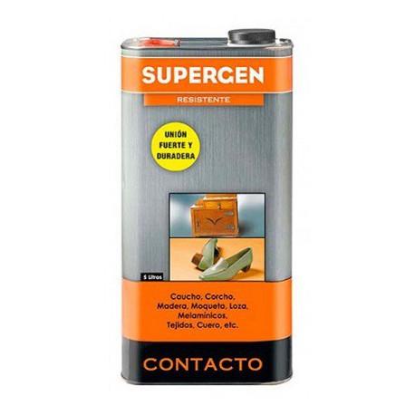 Adhesivo de contacto envase 5l amarillo SUPERGEN