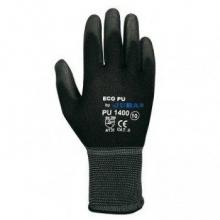 Guante ECO-PU 1400 T08 nylon/PU NEGRO BPU T8 blister JUBA