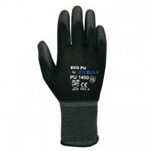 Guante ECO-PU 1400 T09 nylon/PU NEGRO BPU T9 blister JUBA