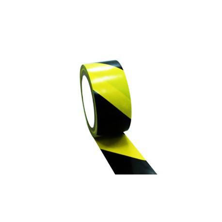 Cinta señalizacion adhesiva amarilla/negra 50mmx33m FAMA