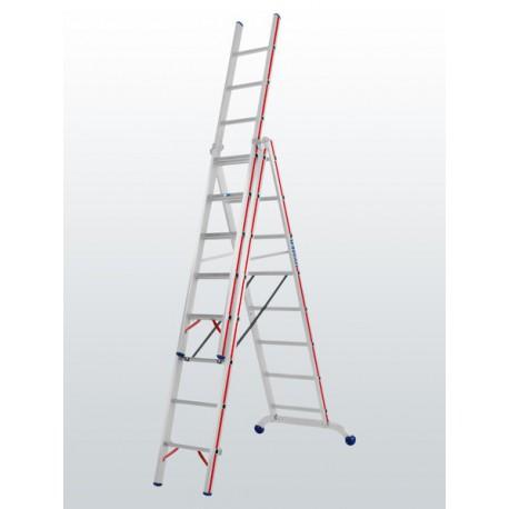 Escalera 3 tramos 3x12 peldaños 604736 transformable HYMER
