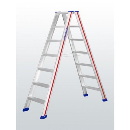 Escalera tijera y puente seguridad 4 peldaños HYMER