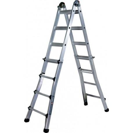 Escalera telesc pica alu 4 4 pelda os almesa ferreter a for Escalera telescopica aluminio