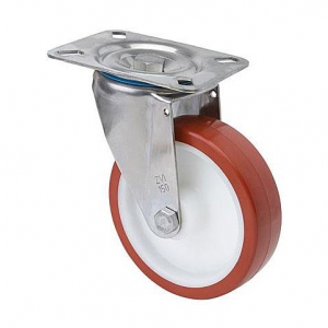Rueda giratoria 2-2416 80ømm 100kg poliuretano inox ALEX