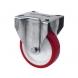 Rueda fija 2-2422 80Ømm 100kg poliuretano inox ALEX