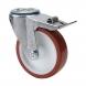 Rueda giratoria freno 2-2443 125ømm 200kg poliuretano inox ALEX