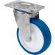 Rueda giratoria 2-2944 80ømm 100kg poliuretano inox ALEX