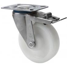Rueda giratoria freno 2-3083 80ømm 100kg poliamix inox ALEX
