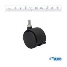 Rueda giratoria freno 1-0405 50ømm 50kg ALEX