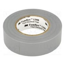 Cinta aislante pvc temflex 1300 gris 19mmx20m 3M