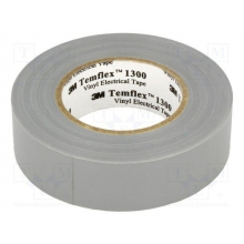 Cinta aislante temflex 1300 gris 19x20mm 3M