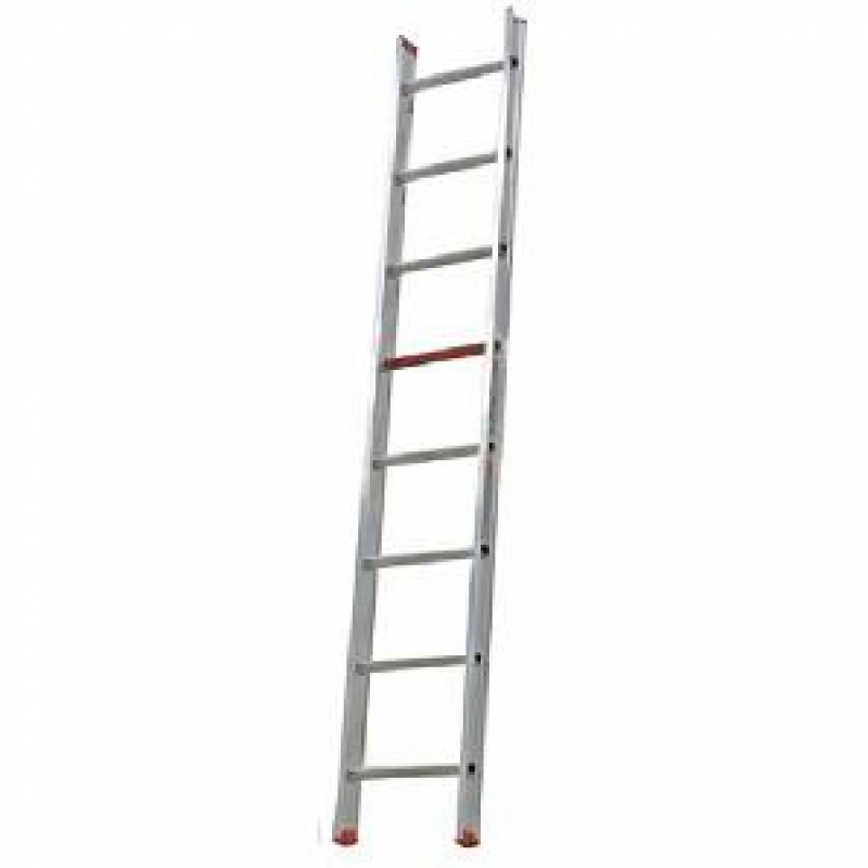 Escalera aluminio simple 8 pelda os 1 tramo 3 08mts for Escaleras 8 peldanos