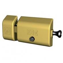 Cerrojo 446RP/80 UVE Magnet bombín redondo ø30x50mm  dorado FAC