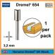 Fresa recta hss 6.4mm DREMEL