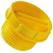 Tapon rosca GPN700 9/16-18 UNF PE-HD amarillo  POPPELMANN