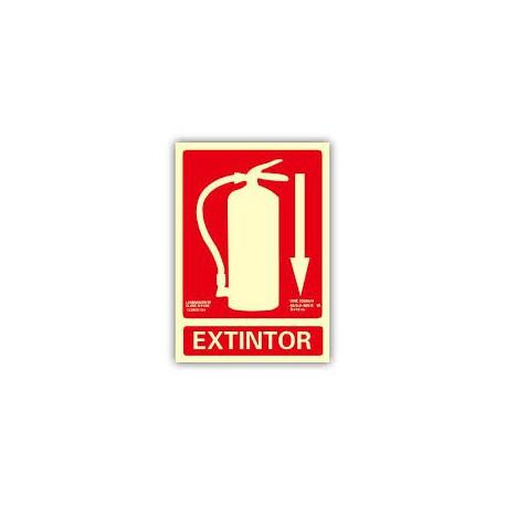 "Señal ""Extintor abajo"" 300x210x7mm PVC NORMALUZ"