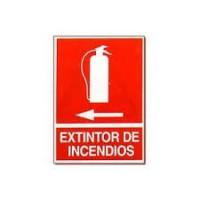 Señal extintor izquierda pvc 300x210x0,7mm NORMALUZ