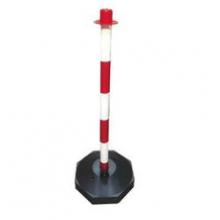 Poste PVC balizamiento/señalizacion rojo/blanco 900mm + pie SINEX