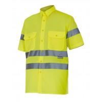 Camisa alta visibilidad manga corta 141-20 amarilla VELILLA