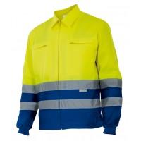 Cazadora alta visibilidad 153-140 amarillo/azulina VELILLA