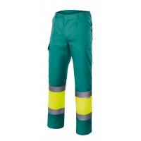 Pantalon alta visibilidad 156-120 amarillo/verde VELILLA