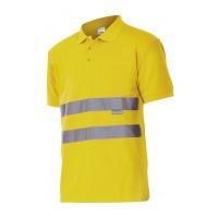 Polo alta visibilidad manga corta 172-20 amarillo VELILLA