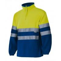 Forro polar alta visibilidad 182-140 amarillo/azulina VELILLA