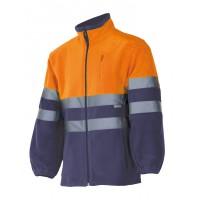 Chaqueta polar alta  visbilidad 183-210 naranja/azul VELILLA
