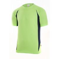 Camiseta manga corta 105501-25-1 verde lima/azul marino VELILLA