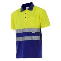 Polo manga corta 173-140 amarillo/azulina
