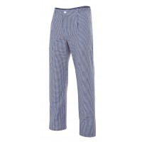 Pantalon de cocinero cuadros 351-1 azul marino VELILLA
