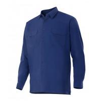 Camisa manga larga 520-1 azul marino VELILLA