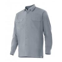 Camisa manga larga 520-8 gris VELILLA