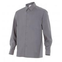 Camisa manga larga 529-8 gris VELILLA