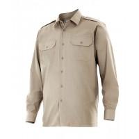 Camisa manga larga 530-6 beige VELILLA