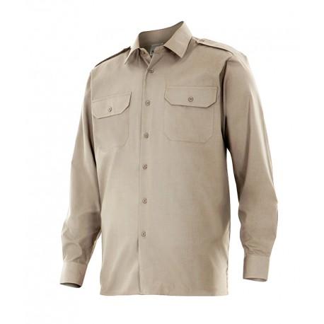 Camisa manga larga 530-6 beige