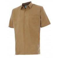 Camisa manga corta 531-6 beige VELILLA