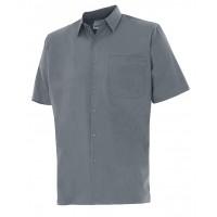 Camisa manga corta 531-8 gris VELILLA