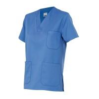Camisola pijama de manga corta 589-5 celeste