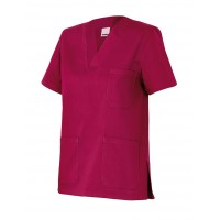 Camisola pijama de manga corta 589-67 burdeos