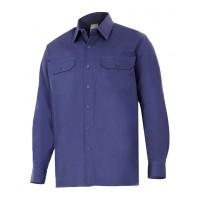 Camisa manga larga 533-1 azul marino VELILLA