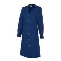 Bata mujer manga larga 908-1 azul marino