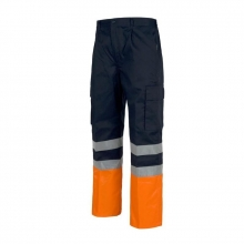 Pantalon alta visibilidad naranja bicolor t-42 MAYTON