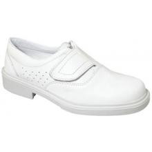 Zapato londres velcro blanco liso O1 PANTER