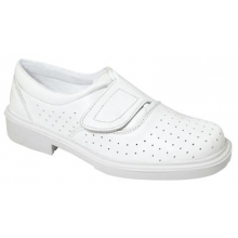 Zapato londres velcro blanco calado O1 PANTER
