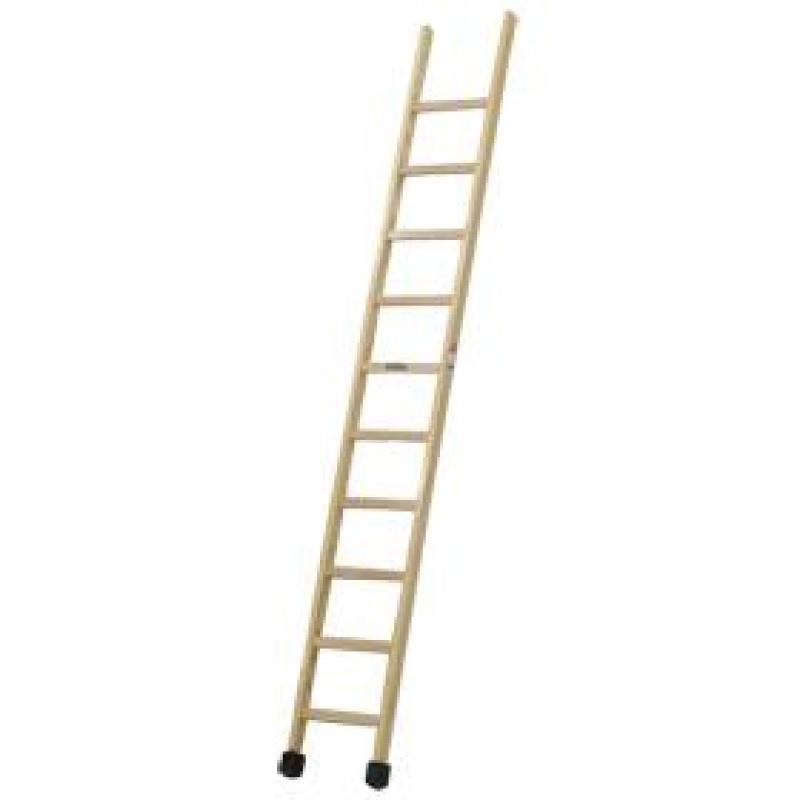 Escalera de madera de un tramo climent ferreter a campollano for Escalera de jardin de madera