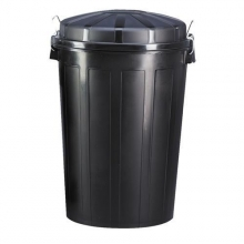 Cubo basura sin tapa 95l negro
